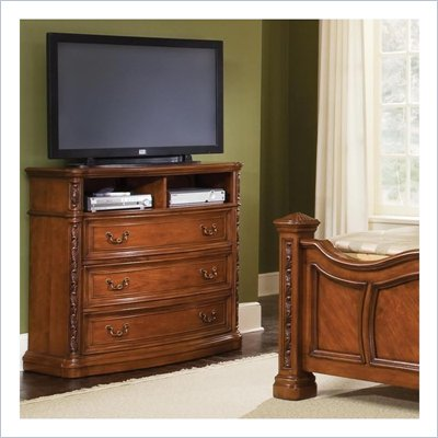 Wynwood Terrassa 3 Drawer Media Chest in Amber Cherry Finish