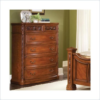 Wynwood Terrassa 5 Drawer Chest in Amber Cherry Finish