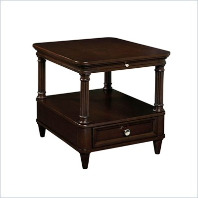 Wynwood Tuxedo Park Drawer End Table in Dark Chocolate