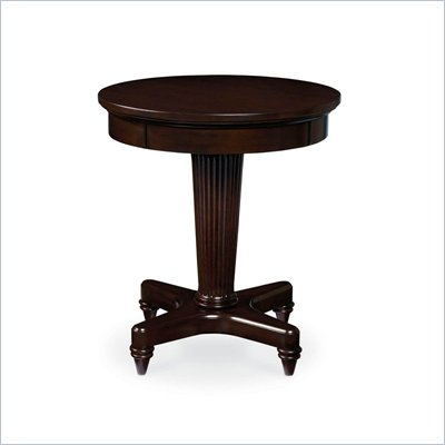 Wynwood Tuxedo Park Round End Table in Dark Chocolate