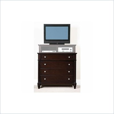 Wynwood Tuxedo Park Media Chest in Dark Chocolate Finish