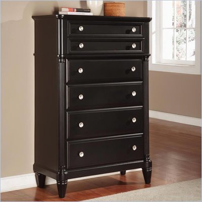 Wynwood Tuxedo Park 6 Drawer Chest in Dark Chocolate Finish