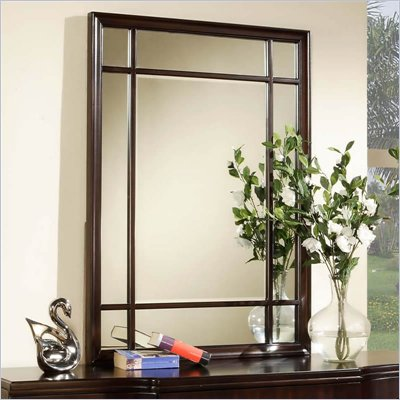 Wynwood Vinings Vertical Mirror in Bordeaux Finish