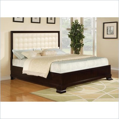 Wynwood Vinings Upholstered Panel Bed in Bordeaux Finish