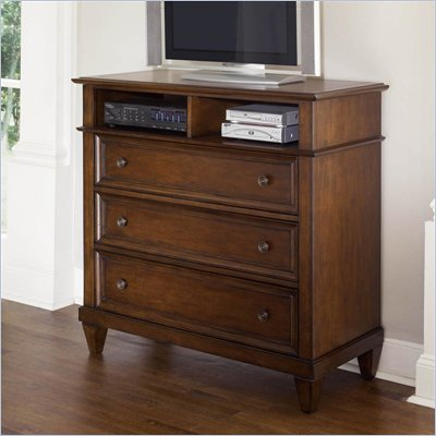 Wynwood Westhaven 3 Drawer Media Chest in Dried Fig Cherry Finish