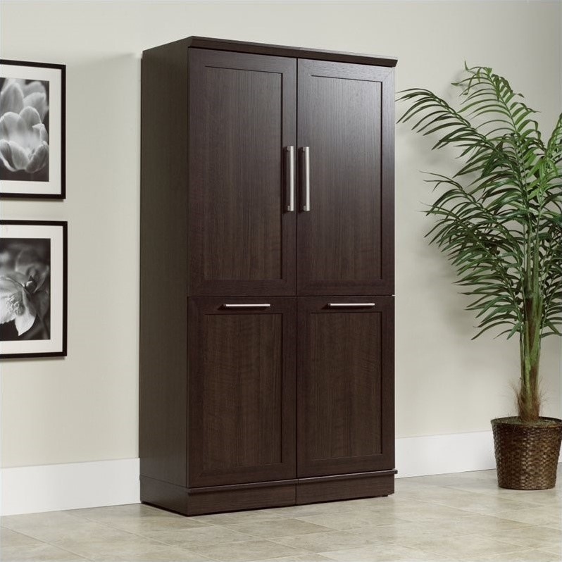 Sauder Homeplus Storage Cabinet in Dakota Oak 411309-PKG