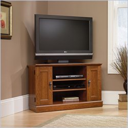 Camden Planked Corner TV Stand in Cherry