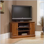 Camden Planked Corner TV Stand in Cherry Finish