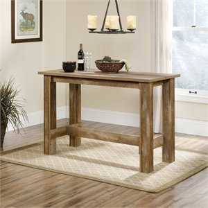 Sauder Boone Mountain Counter Height Dining Table in Craftsman Oak
