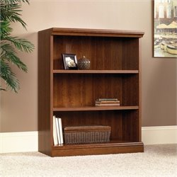 Sauder Camden County 3-Shelf Bookcase in Planked Cherry finish