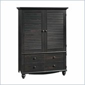 Distressed Antique Paint TV Armoire with Adjustable Shelves