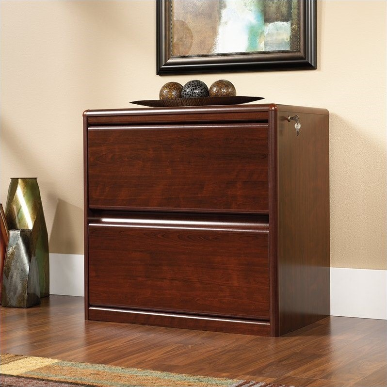 Cornerstone 2 Drawer Lateral Wood File Cabinet in Classic Cherry