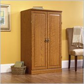 Orchard Hills Collection Wood Computer Armoire in Carolina Oak