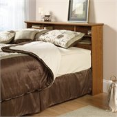 Sauder Orchard Hills Full/Queen Bookcase Headboard in Oak