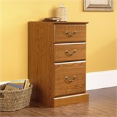 Sauder Orchard Hills 3-Drawer Pedestal in Oak Finish