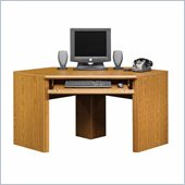 Sauder Orchard Hills Small Corner Wood Computer Desk in Carolina Oak