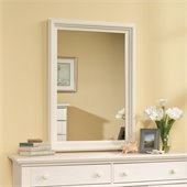 Sauder Harbor View Mirror in Antiqued White