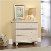Sauder Harbor View 3-Drawer Chest in Antiqued White