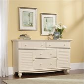 Sauder Harbor View Dresser in Antiqued White