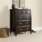 Sauder Shoal Creek 4-Drawer Chest in Jamocha Wood