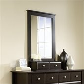 Sauder Shoal Creek Mirror in Jamocha Wood
