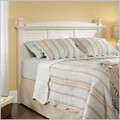 Harbor View Full / Queen Headboard with Antiqued White Finish