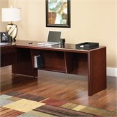 Sauder Cornerstone 65 Desk Return in Classic Cherry