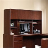 Sauder Cornerstone Hutch for Desk and Return in Classic Cherry