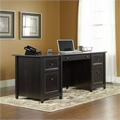 Sauder Edge Water Executive Desk in Estate Black