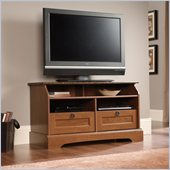 Sauder Graham Hill Panel TV Stand in Autumn Maple