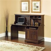 Sauder Graham Ridge Computer Desk with Hutch in Euro Oak