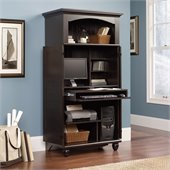 Sauder Harbor View Computer Armoire in Antiqued Paint