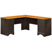 Sauder Harbor View Corner Computer Desk in Antiqued Paint
