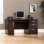 Sauder Office Port Credenza in Dark Alder