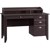 Sauder Shoal Creek Desk in Jamocha Wood