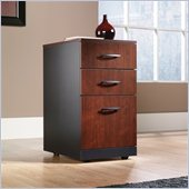 Sauder Via 3 Drawer Pedestal Mobile Cabinet in Classic Cherry