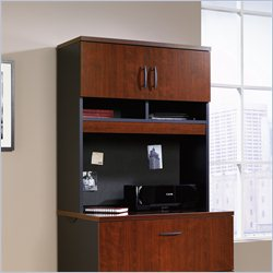 Sauder Via Hutch for Lateral File in Classic Cherry