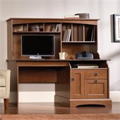 Sauder Graham Hill Computer Desk with Hutch in Autumn Maple Finish