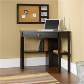 Sauder Corner Computer Desk in Cinnamon Cherry Finish
