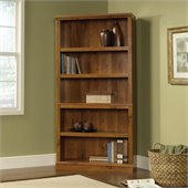 Sauder Storage Five Shelf Bookcase in Abbey Oak Finish