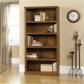 Sauder Storage Five Shelf Bookcase in Oiled Oak Finish
