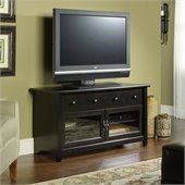 Sauder Edge Water Panel TV Stand in Estate Black