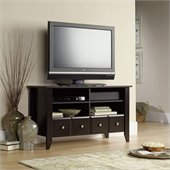 Sauder Shoal Creek Espresso TV Stand 