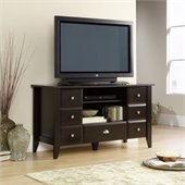 Sauder Shoal Creek Entertainment Credenza in Jamocha Wood Finish