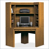 Sauder Orchard Hills Small Corner Wood Computer Desk and Hutch in Oak
