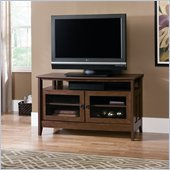Sauder August Hill Panel TV Stand in Oiled Oak