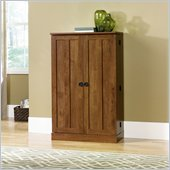 Sauder August Hill Multimedia Storage Cabinet in Oiled Oak