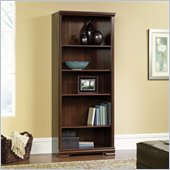 Sauder Carolina Estate 5-Shelf Bookcase in Select Cherry