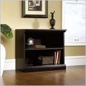 Sauder 2 Shelf Bookcase in Estate Black