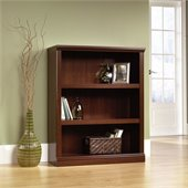 Sauder 3 Shelf Bookcase in Select Cherry
